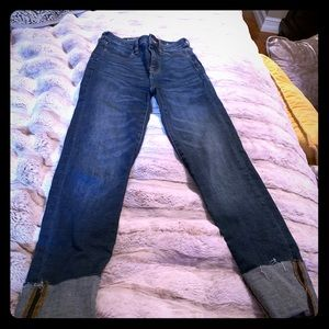 American eagle super skinny high rise crop jeans